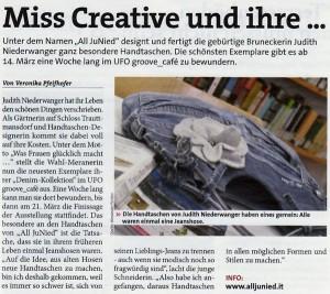 Do Pustra: Miss Creative und ihre Taschen